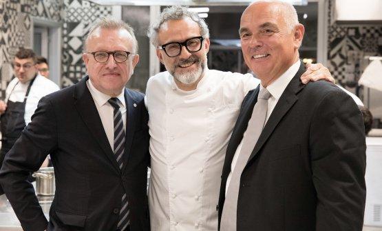 Richard Geoffroy, Massimo Bottura e Carlo Galloni