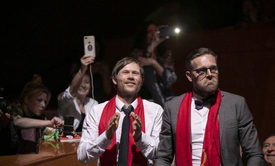 Rasmus Kofoed e Søren Ledet, la cucina e la sala del Geranium a Copenhagen, vincitori del premio Ferrari Trento arte dell'ospitalità. Copyright The World's 50 Best Restaurants