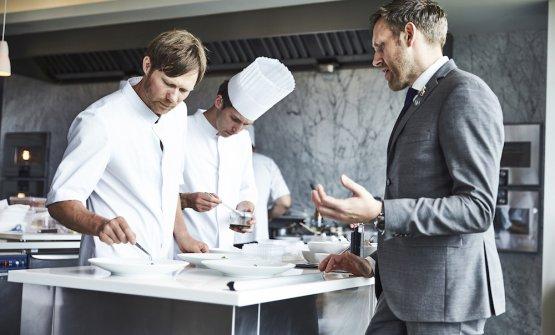 Lo chef Rasmus Kofoede il restaurant managerSøren Ledet