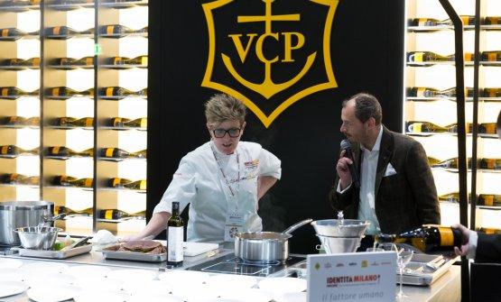 La chef di Alice con Luca Turner, che ha presentato la lezione