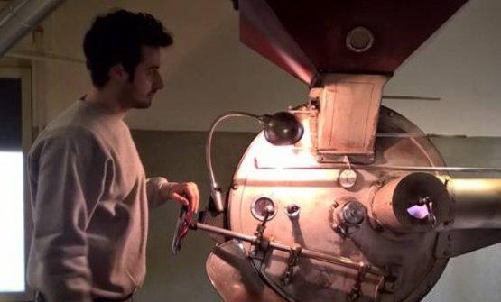 Il laboratorio di torrefazionea Verona