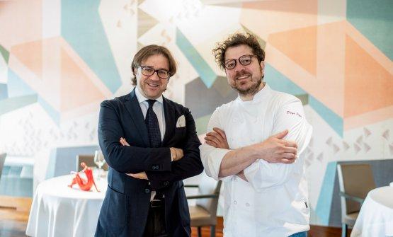 Giambattista e Diego Papa, maître e chef del ristorante (foto di Niccolò Brunelli)