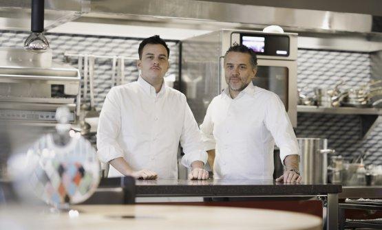 Giancarlo Perbellini con il nuovo sous chef,Marco Stagi