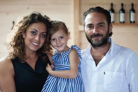 Gianluca Piernera e famiglia