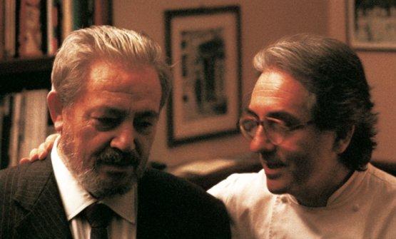 Gianni Brera e Gualtiero Marchesi