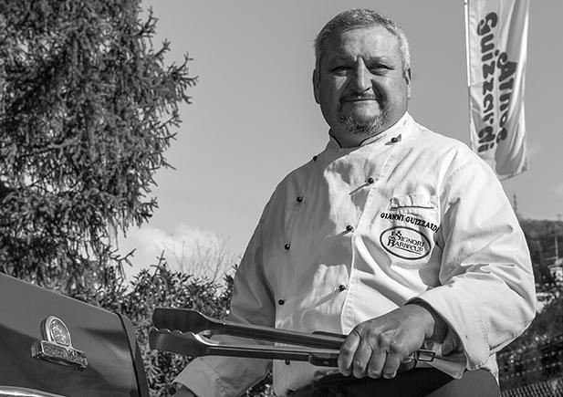 BBQ MANIAC.Gianni Guizzardi, co-autore del libro e titolare de I Signori del Barbecue