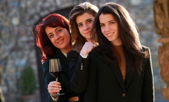 Gigliola Giannetticon le figlieViolaeSofia