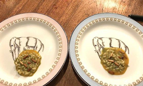 Il risotto al rosmarino servito da Dina a Gussago