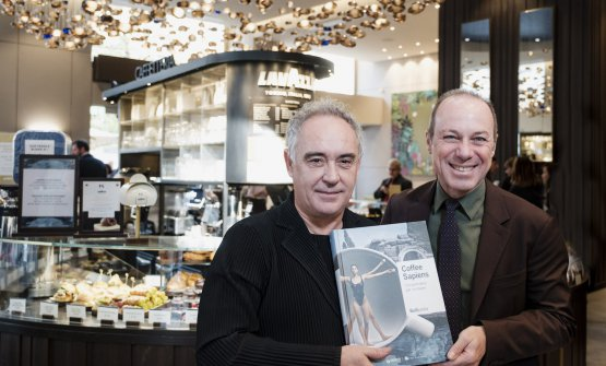 Ferran Adrià and Giuseppe Lavazza at the prese