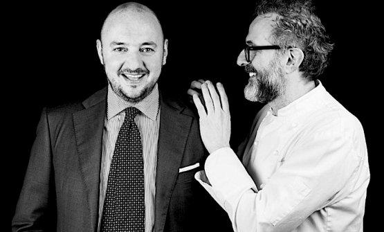Giuseppe Palmieri e Massimo Bottura