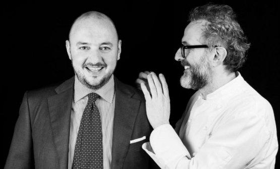 Beppe Palmieri con Massimo Bottura: il direttore d