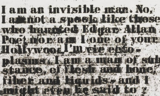 "Senza titolo (""I am an invisible man""), Glenn Ligon, 1991"
