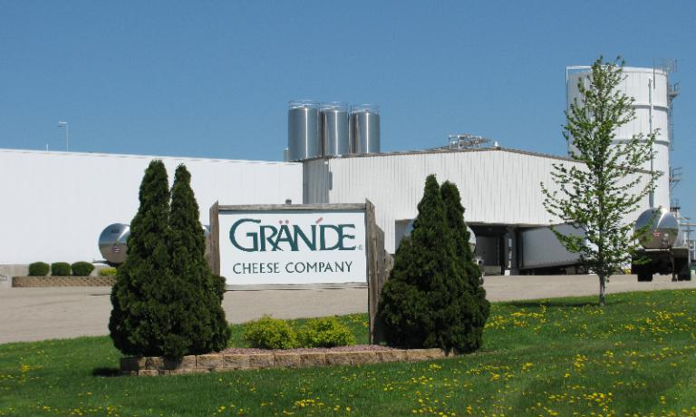The headquarters of Grande Cheese Company in Wisconsin