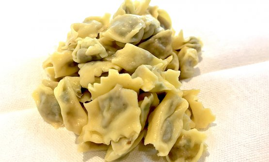 The lovelyAgnolotti del plin alla curdunàserved during the lunch in honour ofFerran Adriàon Sunday 10th June at the castle of Grinzane Cavour