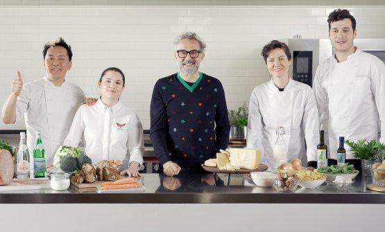 Massimo Bottura e gli chef del Gruppo Francescana�