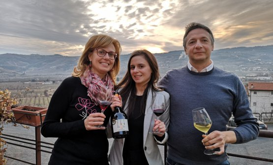 Gianni Tessari insieme alla moglie Anna Maria e al