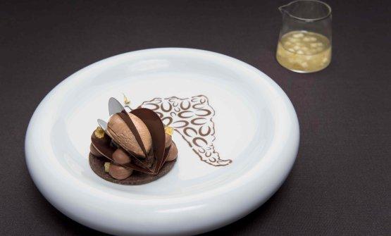 Il dessert al piatto presentato da Fiorani al C3 Valrhona