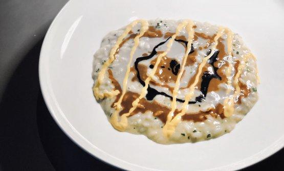 Antonio Guida | Risotto alle erbe con salsa di cozze, gelato ai ricci di mare e sgombro