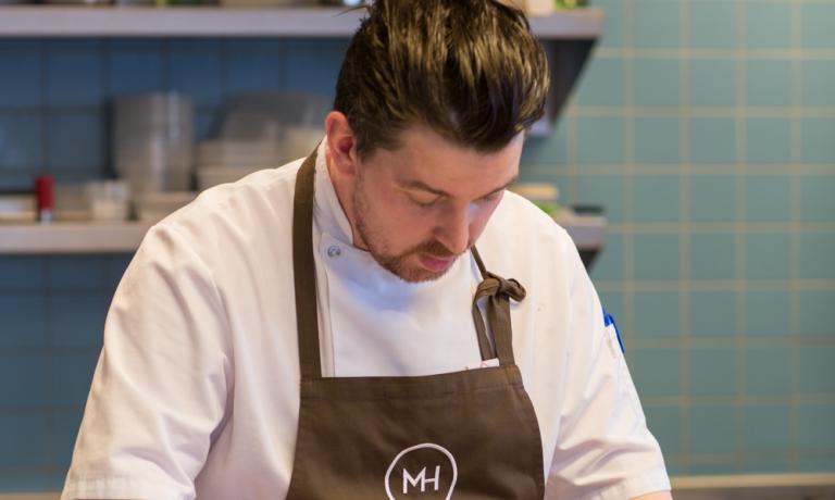 Young Norwegian chef Gunnar Jensen