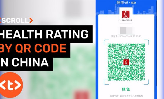 The health code on Chinese mobile phones