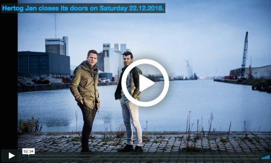 Il fermo immagine dell'annuncio che il 22 dicembre 2018 il ristorante Hertog Jan chiuderà per sempre