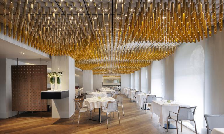 Gli splendidi interni del ristorante