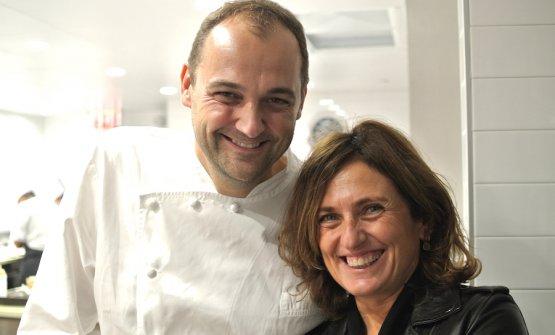 Daniel Humm con Luisa Marchi