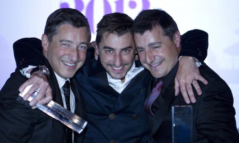Joan, Jordi e Josep Roca alla cerimonia di premiazione del World's 50 Best 2013 a Londra. @Worlds 50 Best Restaurants