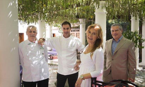 Gli Iaccarino: i figli Mario ed Ernesto, i genitori Livia ed Alfonso(fotoS. Scatà)