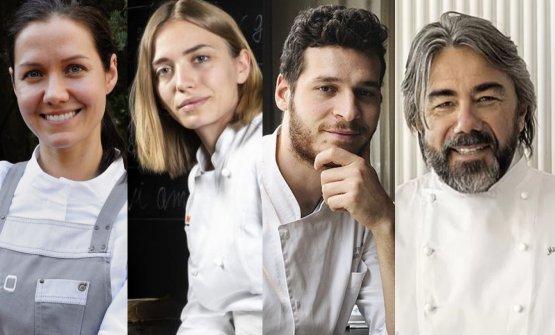 The four speakers at Identità di Formaggio 2021:�