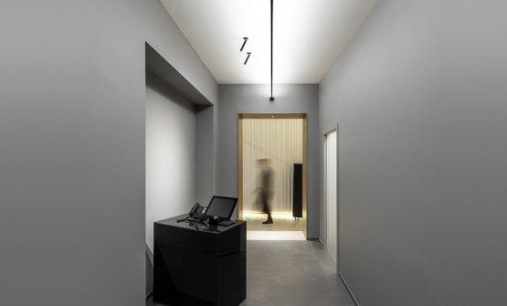 Illuminazione by Groppi a Identità Golose Milano: qui le lampade Infinito(Groppi, 2016) e Mira R (Omar Carraglia, 2012)