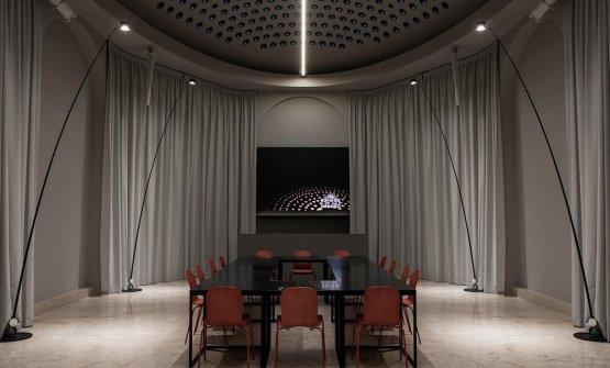 Sampeilamps in the Oval room atIdentità Golose Milano