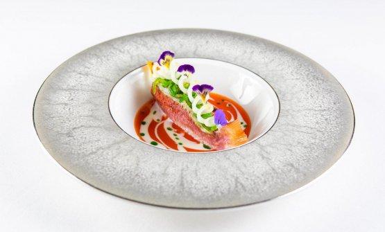 Triglia,bouillabaisse, provola, wakame eaceto affumicato