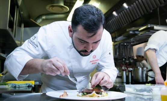Domenico Stile,chef del ristoranteEnoteca La T