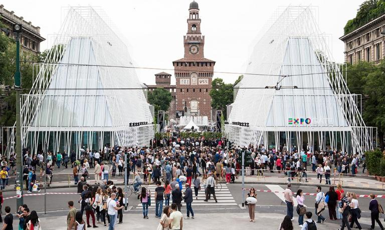 Expo Gate in Milan, the location of the press conference