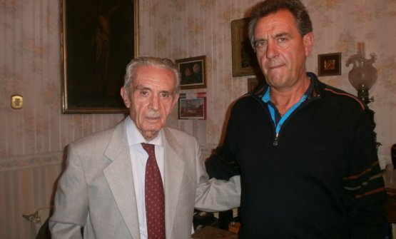 Ignazio Musmeci, a sinistra, con Nino Farfaglia