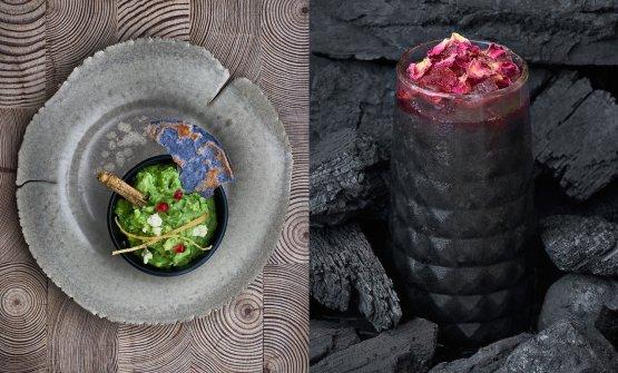 Due delle proposte del ristorante londineseElla Canta di Martha Ortiz, la chef più acclamata del Messico. Il ristorante ha aperto nell'hotel One Hamilton Place Park Lane, telefono+44.(0)20.73188715