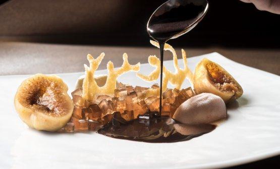 Fichi, mascarpone e cioccolato: il piatto dell'autunno di Riccardo Bassetti. Tutte le foto sono di Susy Mezzanotte