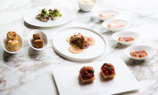 Alcuni piatti di Romito a Milano:Antipasto all'italiana