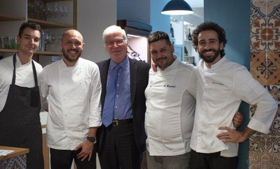 I tre chef con Mario Cucci