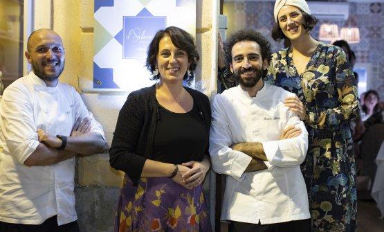 Visciola e Aliberti conAnna Alessandro e Giulia Monteleone