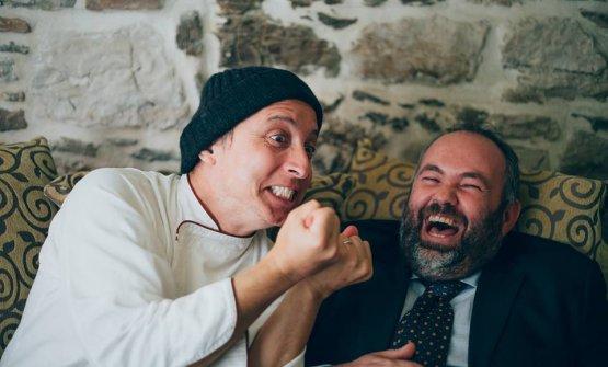 Gianluigi Silvestri con Mazzaroni in una foto di qualche tempo fa