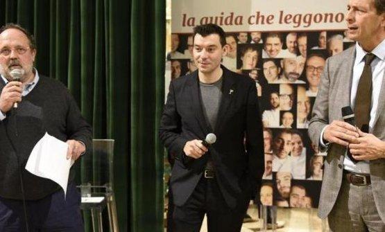 Paolo MarchiandNicola CesareBaldrighi– president atConsorzio Tutela Grana Padano- awardFantinasBest cheffor the 2015Guida Identità Golose