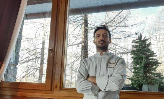 Gabriele Avanzi, chef del ristorante La Chandelle