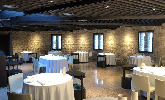 La sala del ristorante Gellius, chef e patron Alessandro Breda