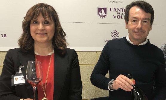 Angela Sini e Christian Belleidella Cantina della Volta di Bomporto in provincia di Modena