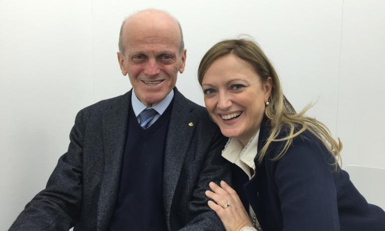 Italo Maschio con Anna
