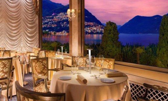 La sala del ristorante I Due Sud, nell'hotelSplendide RoyaldiLugano, Svizzera