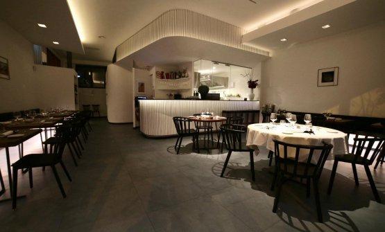 La sala del ristorante Acciuga
