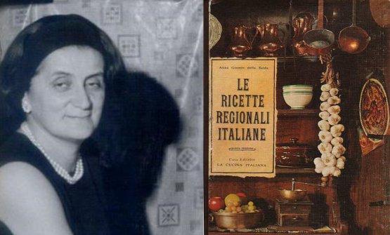 """Anna Gosetti della Salda e il libro che più l'ha resa celebre: venne pubblicato nel 1967 dalla casa editrice Solares. La scrittrice morìa Milano nel luglio del 2017, all'età di 101 anni: nel 1952 rilevò la rivista """"La Cucina Italiana"""", che condusse insieme alle sorelle Fernanda e Guglielmina. Raccontò così di aver deciso di aggiungere al suo cognome quello della madre:«Scrivevano di cucina le contesse, cosi mi sono aggiunta il cognome della mamma, della Salda, con la """"d"""" minuscola, che dava un tono nobiliare»"""